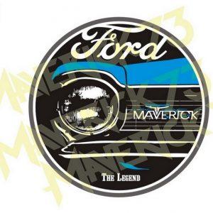 Adesivo Ford Maverick The Legend - Azul
