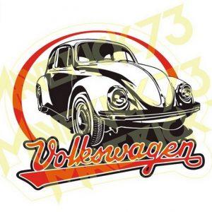 Adesivo Vintage Retro Carro Antigo. Adesivos para Parabrisa Decorativos Vintage Retrô. Decals Stickers Volkswagen Fusca