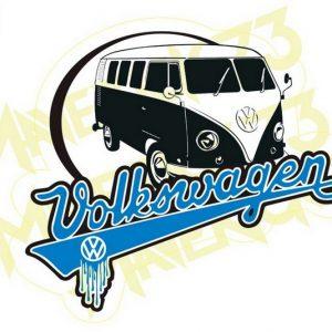Adesivo Vintage Retro Carro Antigo. Adesivos para Parabrisa Decorativos Vintage Retrô. Decals Stickers Volkswagen Kombi