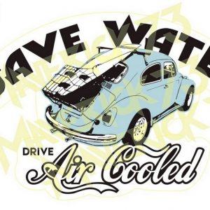 Adesivo Vintage Retro Carro Antigo Marcas Antigas. Adesivos para Parabrisa Decorativos Vintage Retrô. Decals Stickers VW Volkswagen Save Water Drive Air Cooled