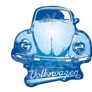 Adesivo Vintage Retro Carro Antigo. Adesivos para Parabrisa Decorativos Vintage Retrô. Decals Stickers Volkswagen Fusca Blue