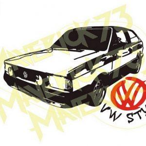 Adesivo Vintage Retro Carro Antigo Marcas Antigas. Adesivos para Parabrisa Decorativos Vintage Retrô. Decals Stickers VW Volkswagen Style Gol Quadrado