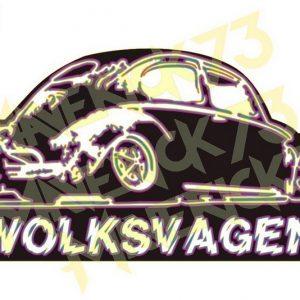 Adesivo Vintage Retro Carro Antigo Marcas Antigas. Adesivos para Parabrisa Decorativos Vintage Retrô. Decals Stickers VW Volkswagen Fusca Neon