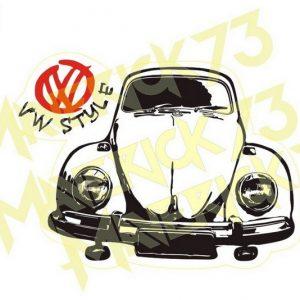 Adesivo Vintage Retro Carro Antigo Marcas Antigas. Adesivos para Parabrisa Decorativos Vintage Retrô. Decals Stickers VW Volkswagen Fusca Branco