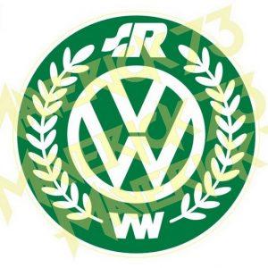 Adesivo Vintage Retro Carro Antigo Marcas Antigas. Adesivos para Parabrisa Decorativos Vintage Retrô. Decals Stickers VW Volkswagen Racing Green Logo