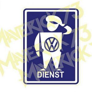 Adesivo Vintage Retro Carro Antigo Marcas Antigas. Adesivos para Parabrisa Decorativos Vintage Retrô. Decals Stickers VW Volkswagen Dienst