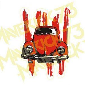 Adesivo Vintage Retro Carro Antigo Marcas Antigas. Adesivos para Parabrisa Decorativos Vintage Retrô. Decals Stickers VW Volkswagen Blood