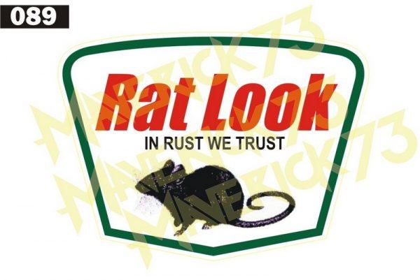 Adesivo Vintage Retro Carro Antigo Marcas Antigas. Adesivos para Parabrisa Decorativos Vintage Retrô. Decals Stickers Rat Look In Rust We Trust