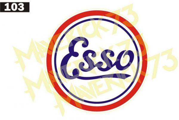 Adesivo Vintage Retro Carro Antigo Marcas Antigas. Adesivos para Parabrisa Decorativos Vintage Retrô. Decals Stickers Classic Esso Logo