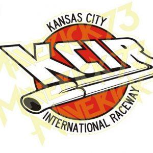 Adesivo Vintage Retro Carro Antigo Marcas Antigas. Adesivos para Parabrisa Decorativos Vintage Retrô. Decals Stickers KCIR Kansas City International Raceway
