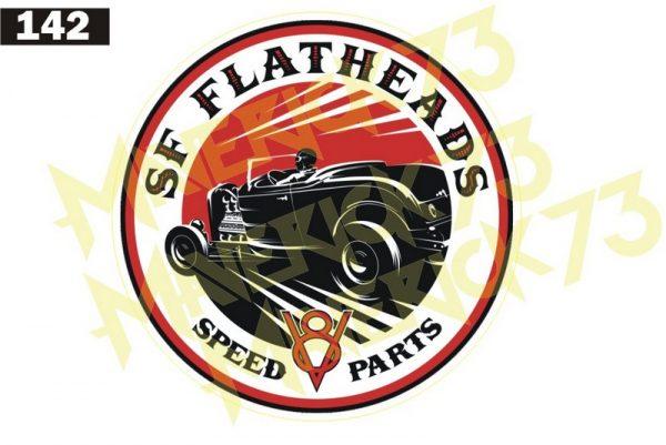 Adesivo Vintage Retro Carro Antigo Marcas Antigas. Adesivos para Parabrisa Decorativos Vintage Retrô. Decals Stickers SF Flatheads Speed Shop