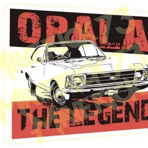 Adesivo Vintage Retro Carro Antigo Marcas Antigas. Adesivos para Parabrisa Decorativos Vintage Retrô. Decals Stickers Chevrolet Opala The Legend