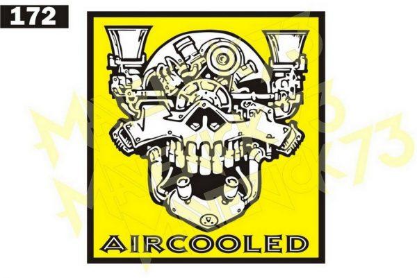 Adesivo Vintage Retro Carro Antigo Marcas Antigas. Adesivos para Parabrisa Decorativos Vintage Retrô. Decals Stickers Volkswagen Air Cooled Skull Engine