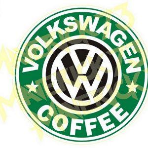 Adesivo Vintage Retro Carro Antigo Marcas Antigas. Adesivos para Parabrisa Decorativos Vintage Retrô. Decals Stickers Volkswagen Coffee