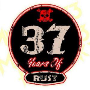 Adesivo Vintage Retro Carro Antigo Marcas Antigas. Adesivos para Parabrisa Decorativos Vintage Retrô. Decals Stickers 37 years of Rust