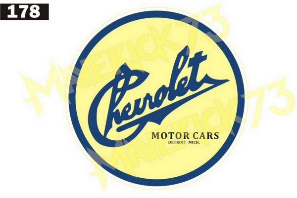 Adesivo Vintage Retro Carro Antigo Marcas Antigas. Adesivos para Parabrisa Decorativos Vintage Retrô. Decals Stickers 1903 Chevrolet Logo