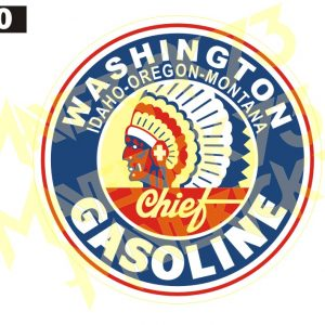Adesivo Vintage Retro Marcas Antigas. Adesivos para Parabrisa Decorativos Vintage Retrô. Decals Stickers Washington Chief Gasoline
