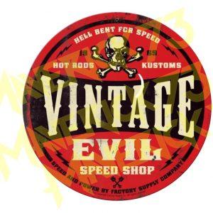 Adesivo Vintage Retro Carro Antigo Marcas Antigas. Adesivos para Parabrisa Decorativos Vintage Retrô. Decals Stickers Vintage Evil Speed Shop