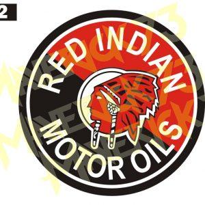 Adesivo Vintage Retro Carro Antigo Marcas Antigas. Adesivos para Parabrisa Decorativos Vintage Retrô. Decals Stickers Red Indian Motor Oils