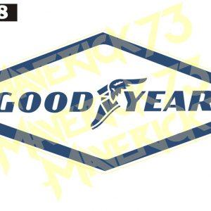 Adesivo Vintage Retro Carro Antigo Marcas Antigas. Adesivos para Parabrisa Decorativos Vintage Retrô. Decals Stickers Classic Goodyear logo