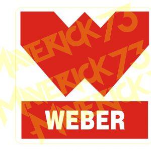 Adesivo Vintage Retro Carro Antigo Marcas Antigas. Adesivos para Parabrisa Decorativos Vintage Retrô. Decals Stickers Weber Classic Logo