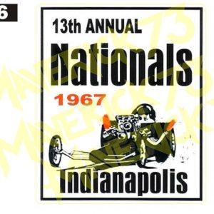 Adesivo Vintage Retro Carro Antigo Marcas Antigas. Adesivos para Parabrisa Decorativos Vintage Retrô. Decals Stickers Nationals Indianapolis