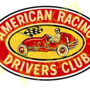 Adesivo Vintage Retro Carro Antigo Marcas Antigas. Adesivos para Parabrisa Decorativos Vintage Retrô. Decals Stickers American Racing Drivers Club