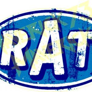 Adesivo Vintage Retro Carro Antigo Marcas Antigas. Adesivos para Parabrisa Decorativos Vintage Retrô. Decals Stickers Rat Logo