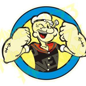 Adesivo Vintage Retro Carro Antigo Marcas Antigas. Adesivos para Parabrisa Decorativos Vintage Retrô. Decals Stickers Popeye The Saylor