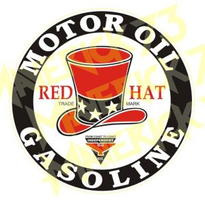 Adesivo Vintage Retro Carro Antigo Marcas Antigas. Adesivos para Parabrisa Decorativos Vintage Retrô. Decals Stickers Red Hat Motor Oil