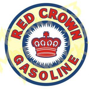 Adesivo Vintage Retro Carro Antigo Marcas Antigas. Adesivos para Parabrisa Decorativos Vintage Retrô. Decals Stickers Red Crown Gasoline