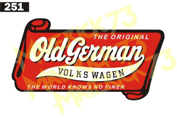 Adesivo Vintage Retro Carro Antigo Marcas Antigas. Adesivos para Parabrisa Decorativos Vintage Retrô. Decals Stickers The Original Old German Volkswagen