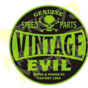 Adesivo Vintage Retro Carro Antigo Marcas Antigas. Adesivos para Parabrisa Decorativos Vintage Retrô Rat Look. Decals Stickers Vintage Evil Speed Parts