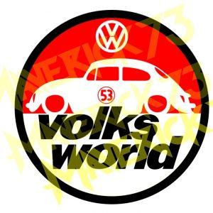 Adesivo Vintage Retro Carro Antigo Marcas Antigas. Adesivos para Parabrisa Decorativos Vintage Retrô. Decals Stickers Volkswagen Volks World
