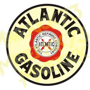 Adesivo Vintage Retro Carro Antigo Marcas Antigas. Adesivos para Parabrisa Decorativos Vintage Retrô. Motor Oils and Gasoline Decals Stickers Atlantic Gasoline