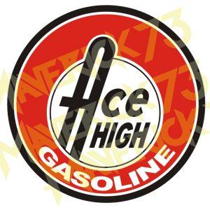 Adesivo Vintage Retro Carro Antigo Marcas Antigas. Adesivos para Parabrisa Decorativos Vintage Retrô. Motor Oils and Gasoline Decals Stickers Ace High Gasoline