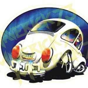 Adesivo Vintage Retro Fusca Carro Antigo Marcas Antigas. Adesivos para Parabrisa Decorativos Vintage Volkswagen and Gasoline Decals Stickers