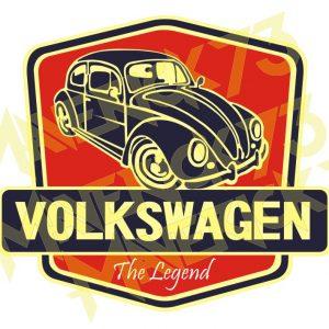 Adesivo Vintage Retro Carro Antigo Marcas Antigas Fusca Volkswagen. Adesivos para Parabrisa Decorativos Vintage Retrô. Volkswagen Decals Stickers