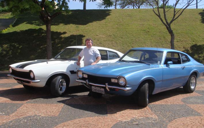 Alcebíades Bernardo - Botucatu - SP   Maverick branco: 1975 caracterizado GT - 4cc / Maverick azul: 1976  SL - V8 - 302