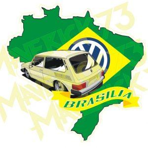 Adesivo Vintage Retro Carro Antigo Marcas Antigas. Adesivos para Parabrisa Decorativos Vintage Retrô Volkswagen. Brasilia