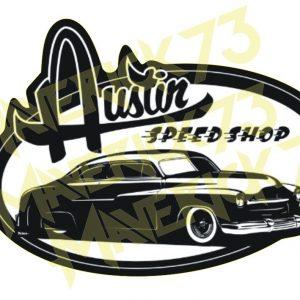 Adesivo Vintage Retro Carro Antigo Marcas Antigas. Adesivos para Parabrisa Decorativos Vintage Retrô. Motor Oils and Gasoline Speed Shop and Performance Parts Decals Stickers Austin Speed Shop