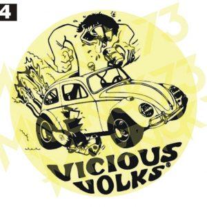 Adesivo Vintage Retro Carro Antigo Marcas Antigas. Adesivos para Parabrisa Decorativos Vintage Retrô. Motor Oils and Gasoline Speed Shop and Performance Parts Decals Stickers Volkswagen Vicious Volks