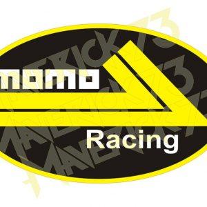Adesivo Vintage Retro Momo Racing