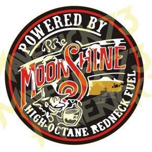 Adesivo Vintage Retro Moonshine High Octane