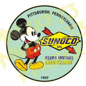 Adesivo Vintage Retro Sunoco Oil
