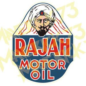 Adesivo Vintage Retro Rajah Motor Oil