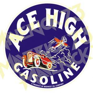 Adesivo Vintage Retro Ace High Gasoline
