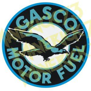 Adesivo Vintage Retro Gasco Motor Fuel