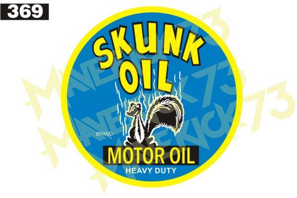 Adesivo Vintage Retro Skunk Motor Oil